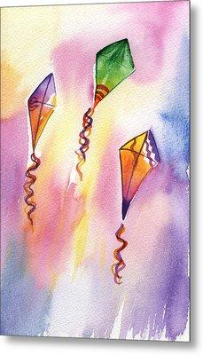 Kite Rockets Metal Print by Lydia Irving