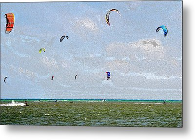 Kites Over The Bay Metal Print by David Lee Thompson