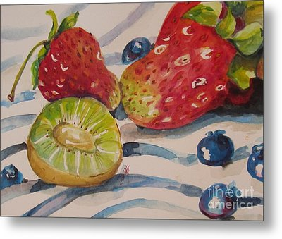 Kiwi And Berries Metal Print by Delilah  Smith