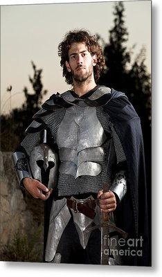 Knight In Shining Armour Metal Print by Yedidya yos mizrachi