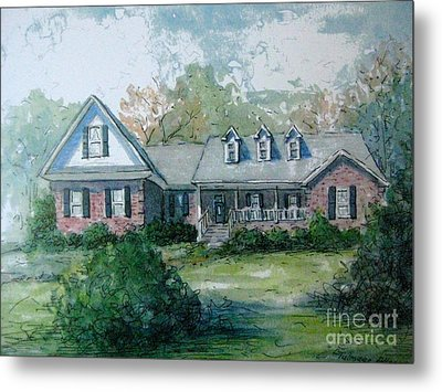 Metal Print featuring the painting Knox's Home Illustration by Gretchen Allen