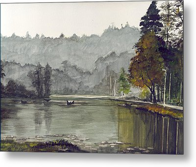 Koadaikanal Lake India Metal Print by Kuppuswami Sundar