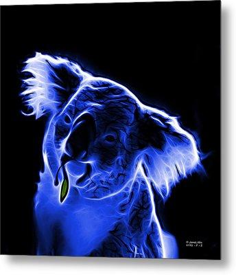 Koala Pop Art - Blue Metal Print