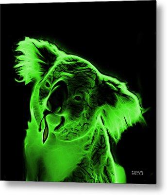Koala Pop Art - Green Metal Print by James Ahn