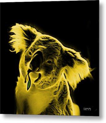 Koala Pop Art - Yellow Metal Print by James Ahn