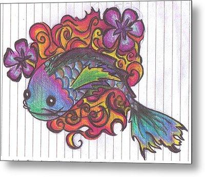 Koi Fish Metal Print by Stephanie Ellison