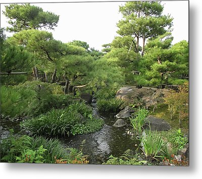 Kokoen Samurai Gardens - Himeji City Japan Metal Print by Daniel Hagerman