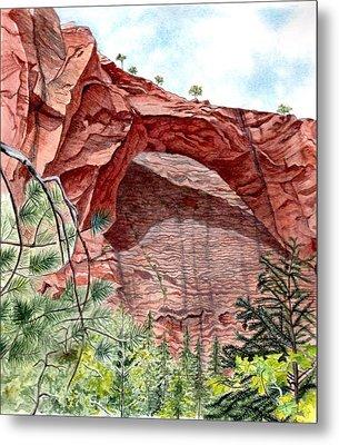 Kolob Canyon Arch Metal Print by Inger Hutton