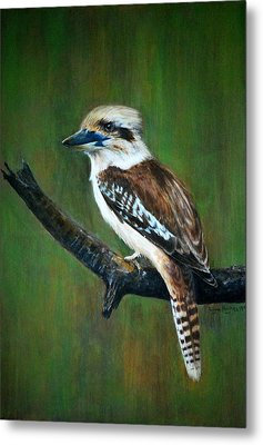 Metal Print featuring the painting Kookaburra by Lynn Hughes
