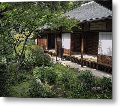 Koto-in Zen Tea House And Garden - Kyoto Japan Metal Print by Daniel Hagerman