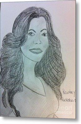Kourtney Kardashian Metal Print by Charita Padilla