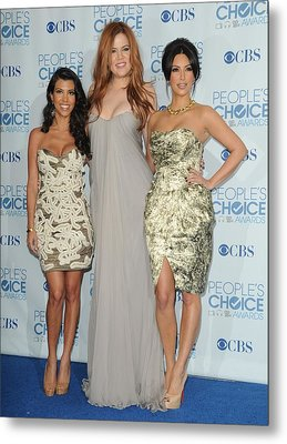 Kourtney Kardashian, Khloe Kardashian Metal Print by Everett