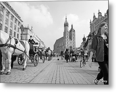 Krakow Carriages Metal Print by Robert Lacy