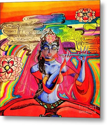 Krishna Metal Print by Jeffrey Kyker