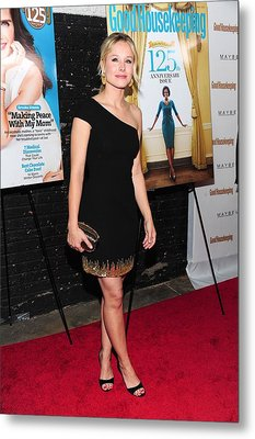 Kristen Bell Wearing A Monique Metal Print by Everett