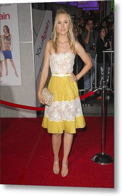Kristen Bell Wearing A Valentino Dress Metal Print by Everett