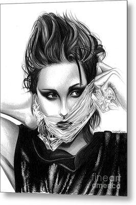 Kristen Stewart 2 Metal Print by Crystal Rosene