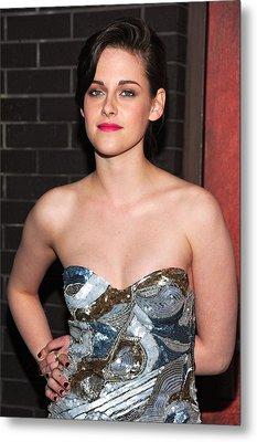 Kristen Stewart Wearing An Emilio Pucci Metal Print by Everett