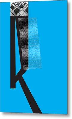 Kurosawa Poster Metal Print