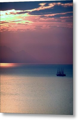 Kusadasi Sunset Metal Print by Steve Mangan