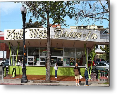 Kwik Way Drive-in Fast Food Restaurant . Oakland California . 7d13521 Metal Print by Wingsdomain Art and Photography