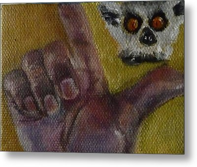 Metal Print featuring the painting L Is For Lemur by Jessmyne Stephenson
