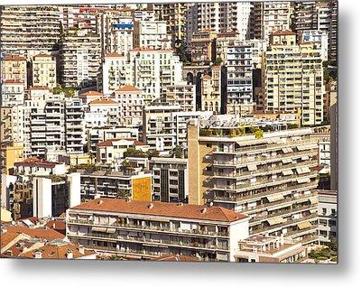 La Condamine And Moneghetti Districts, Monaco Metal Print by Carlos Sanchez Pereyra