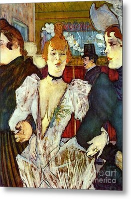 La Goule Arriving At Moulin Rouge Metal Print by Pg Reproductions