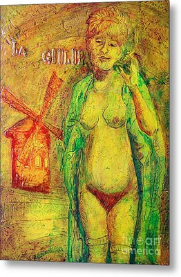 Metal Print featuring the painting La Goulue by D Renee Wilson