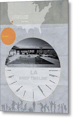 La Poster Metal Print by Naxart Studio