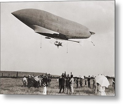 La Republique A Semi-rigid Airship Metal Print by Everett