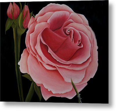 La Rosa  Metal Print by Mary Gaines