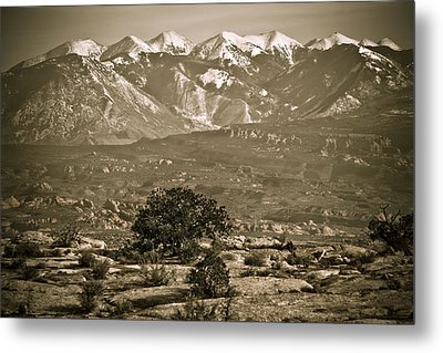 La Sal Mountains Utah Metal Print by Marilyn Hunt