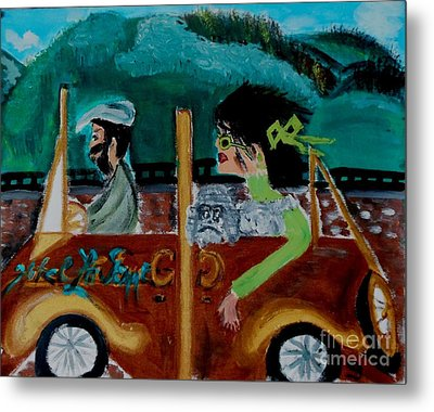 La Shai-on The Road Again-i Will Kill That Hotel Manager When I Get There Metal Print by Marie Bulger