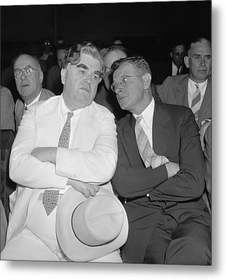 Labor Leaders, John L. Lewis And Sidney Metal Print by Everett