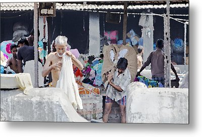 Labour And Sweat Metal Print by Kantilal Patel