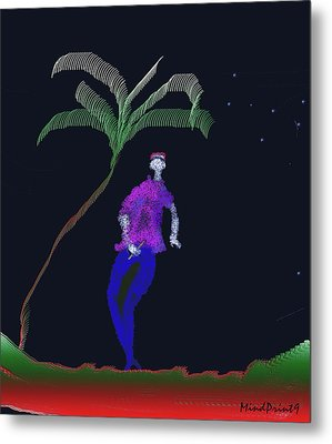 Metal Print featuring the digital art Lad With A Flute by Asok Mukhopadhyay