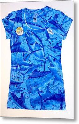 Ladies Gamefish Collage Shirt Metal Print