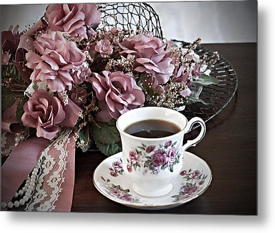 Ladies Tea Time Metal Print by Sherry Hallemeier