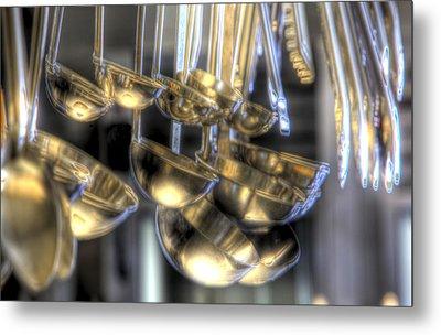 Ladles And Spoons Metal Print by Steve Gravano
