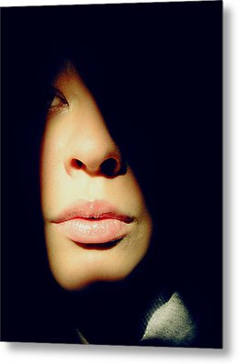 Lady In Darkness Metal Print by Guadalupe Nicole Barrionuevo