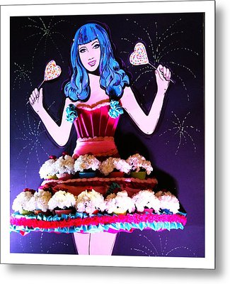 Metal Print featuring the photograph Lady In Flowers by Alice Gipson