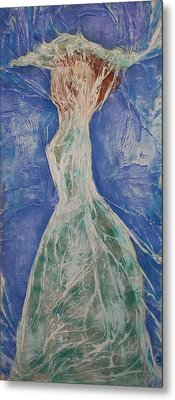 Lady In Green Metal Print by Angela Stout