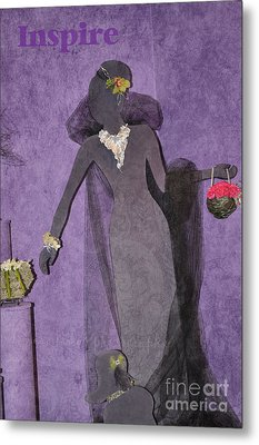 Metal Print featuring the photograph Lady In Grey by Tamera James
