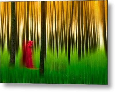 Lady In Red - 3 Metal Print by Okan YILMAZ