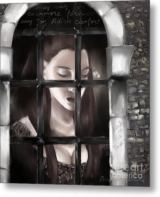 Lady In The Tower Metal Print by Nadja Pilitsyna