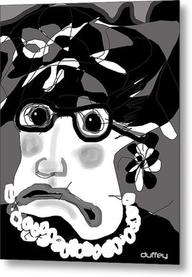 Lady Millicent Was Not To Be Outdone In The Crazy Hat Department Metal Print