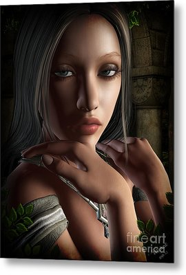 Lady Of Shalot Metal Print