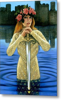 Metal Print featuring the painting Lady Of The Lake by Sue Halstenberg