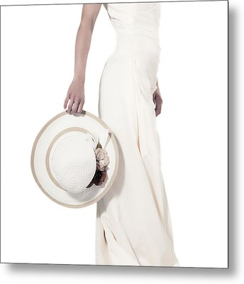Lady With A Hat Metal Print by Joana Kruse